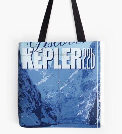 Exoplanet Travel Poster KEPLER 22b Tote Bag