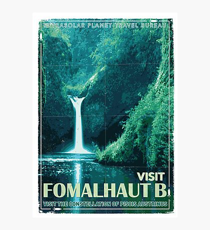 Exoplanet Travel Poster Fomalhaut B Photographic Print