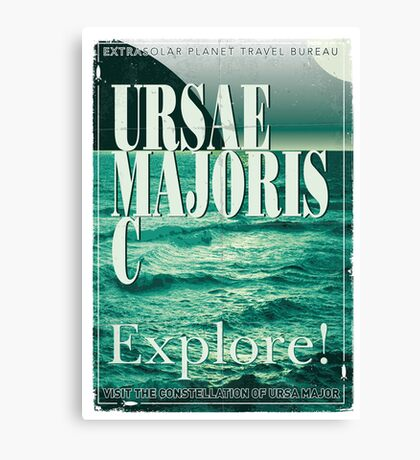Exoplanet Travel Poster Ursae Majoris Canvas Print