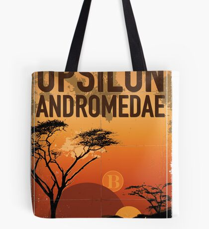 Exoplanet Travel Poster UpsilonAndromedae 4 Tote Bag