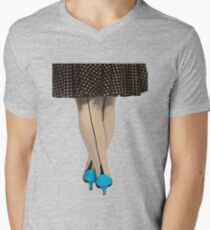Hot Shoes - Blue! Men's V-Neck T-Shirt