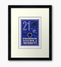 Starship 21 - poststamp - Sputnik2 Framed Print