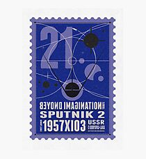Starship 21 - poststamp - Sputnik2 Photographic Print