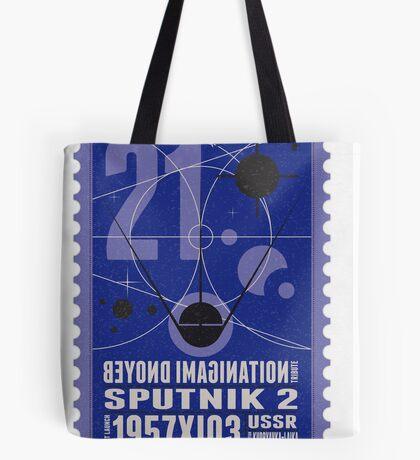 Starship 21 - poststamp - Sputnik2 Tote Bag