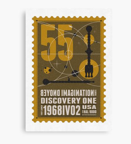 Starship 55 - poststamp - DicoveryOne  Canvas Print