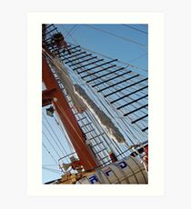Climbing the Rigging  Art Print
