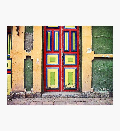 Old colorful door  Photographic Print