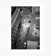 London tilt shift Art Print