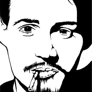 Johnny Depp Black And White Print by sirmaverick