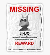 Missing Jinjo Sticker