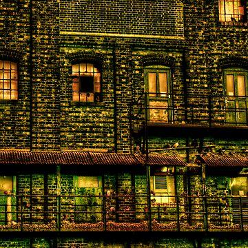 Green doors by InspiraImage