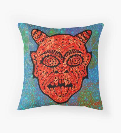 'Handsome Devil Mask #2' Throw Pillow