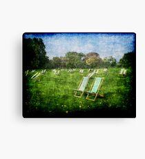 Folding Chairs Canvas Print