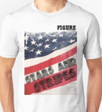 Stars and Strips: Figure Clothing Unisex T-Shirt