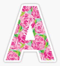 """A"" Rose Letter Sticker"