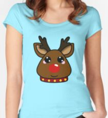 Red-Nosed Reindeer Women's Fitted Scoop T-Shirt