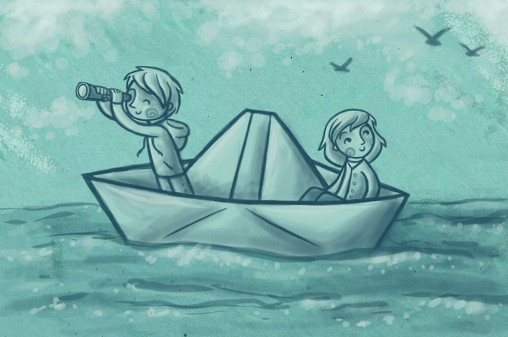 Paper Boat Adventures by Ine Spee