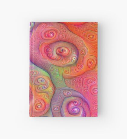 DeepDream Tomato Steelblue 5x5K v6 Hardcover Journal