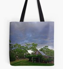 Storm clouds over Paramoor Winery Tote Bag