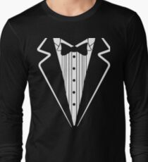 Bow Tie Tuxedo T-shirt Long Sleeve T-Shirt