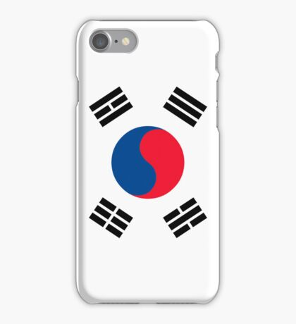 South Korean flag iPhone Case/Skin