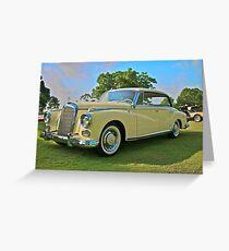 1960 Mercedes 300 Hardtop Sedan Greeting Card