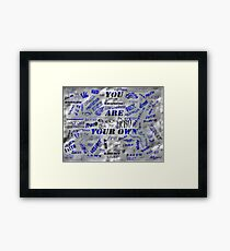 ©NS CARTEL Blue I Framed Print