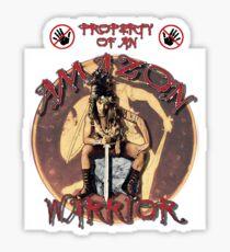 Property Of An Amazon Warrior Sticker