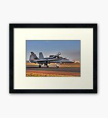 F/A-18 Hornet, A21-4, 77 Squadron, RAAF Williamtown Framed Print