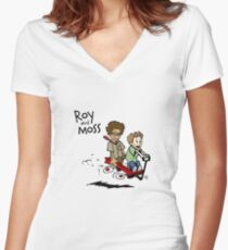 Roy and Moss Women's Fitted V-Neck T-Shirt