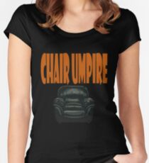 chair umpire - tennis Women's Fitted Scoop T-Shirt