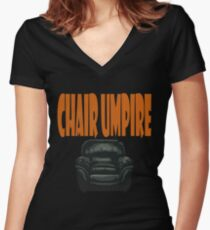 chair umpire - tennis Women's Fitted V-Neck T-Shirt