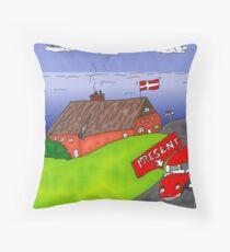 Binary Options News Cartoon Danish Real Estate Throw Pillow