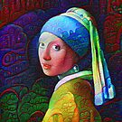 "DeepDreamed ""Girl with a Pearl Earring"" by blackhalt"