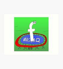 Binary News Options Binaires Facebook Nasdaq Art Print
