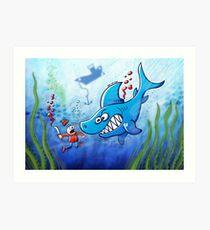Sharks are Furious, Stop Finning! Art Print