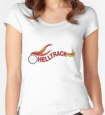 Hell Track Logo From the 80's Movie Rad  Women's Fitted Scoop T-Shirt