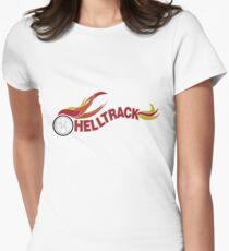 Hell Track Logo From the 80's Movie Rad  Womens Fitted T-Shirt
