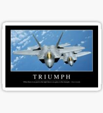 Triumph: Inspirational Quote and Motivational Poster Sticker
