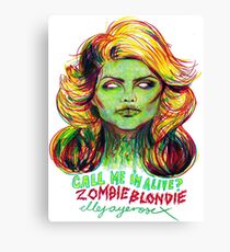 Zombie Blondie Canvas Print