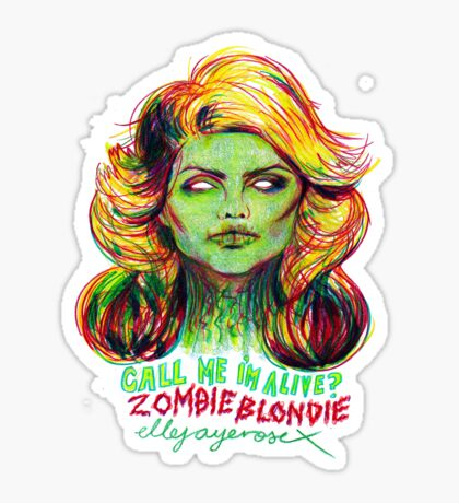 Zombie Blondie Sticker