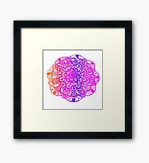 Watercolour Mandala  Framed Print