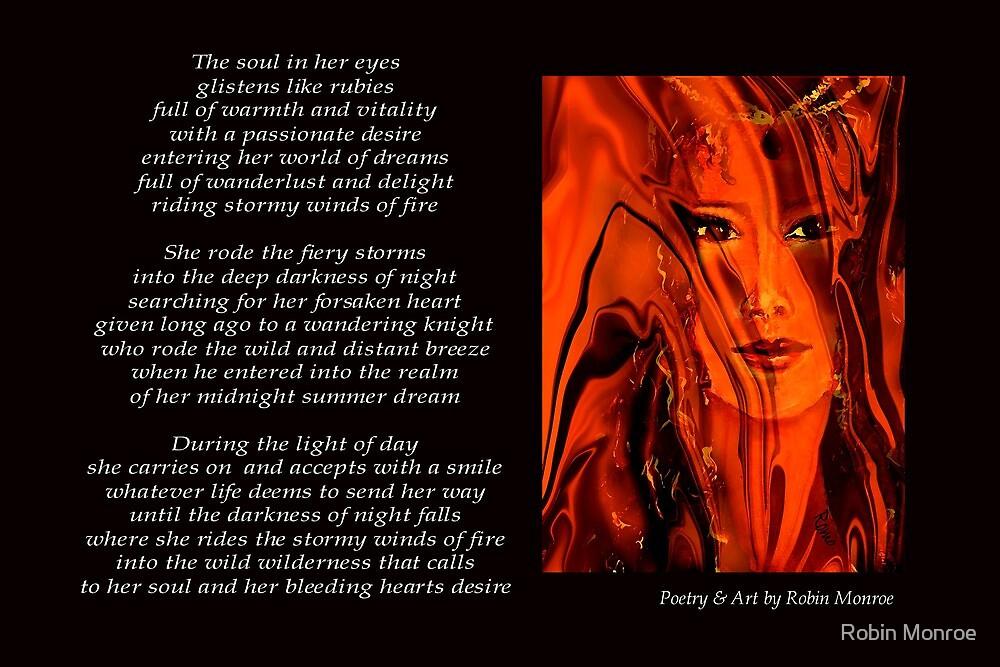 Poetry in Art - Winds of Fire by Robin Monroe
