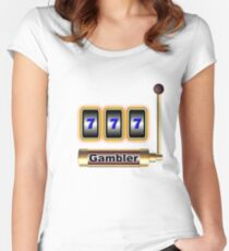 gambler Women's Fitted Scoop T-Shirt