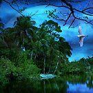 Moon Light at the Oasis by John Rivera