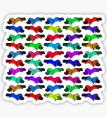 Rainbow platypus Sticker