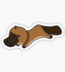 Kawaii platypus Sticker