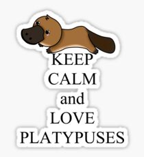 Keep calm and love platypuses Sticker