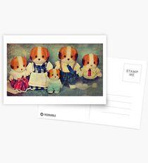 Chiffon Dog Family Postcards