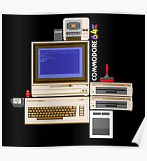 Hail the Commodore 64 Poster